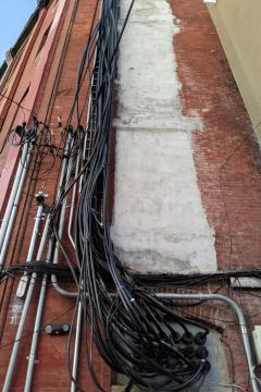Wires on a Building to Mr. Sysko of Nelson, BC Canada (033)