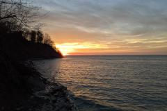 Lake Erie Sunset to Mr. and Mrs. Craig Goucher of Henryville, PA (061)