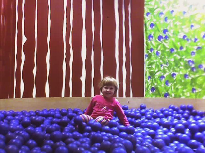 Antje in the Blueberries