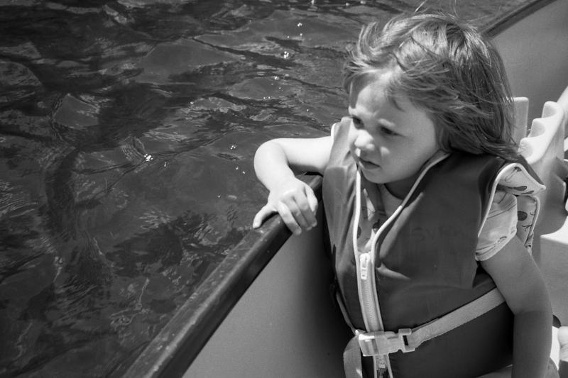 antje in the canoe