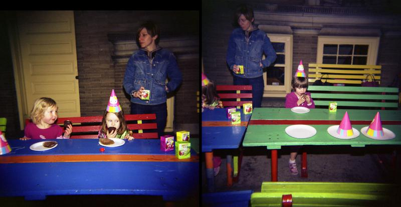 birthday party diptych