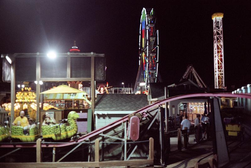 boardwalk playland night