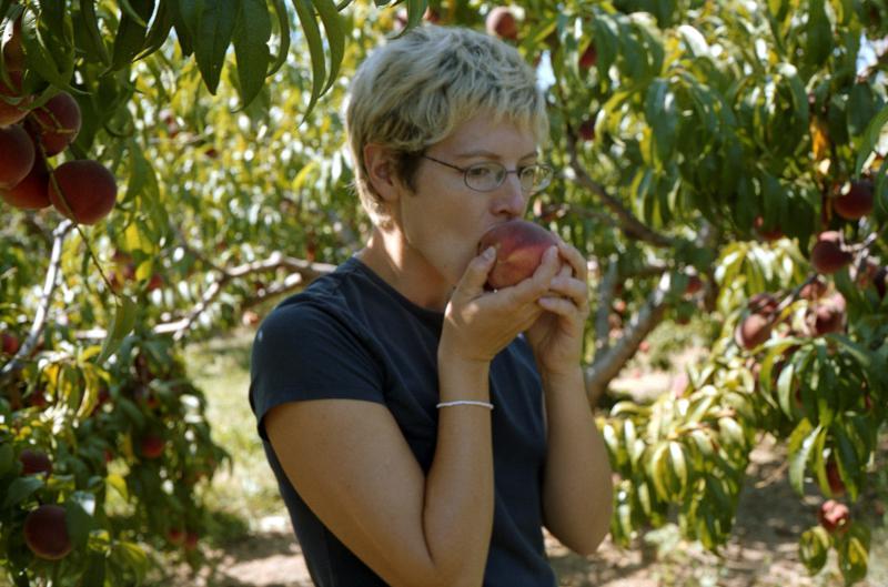 Eating a Peach