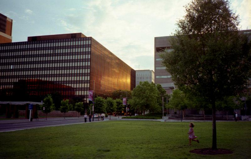 independence mall sunset