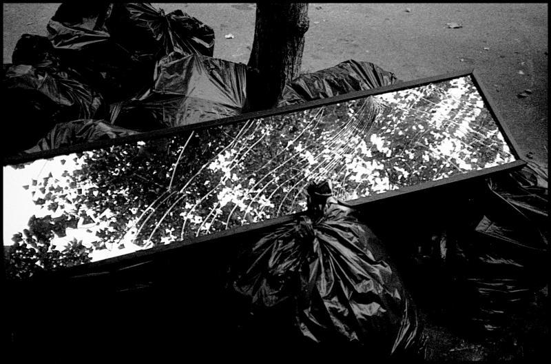 mirror trash