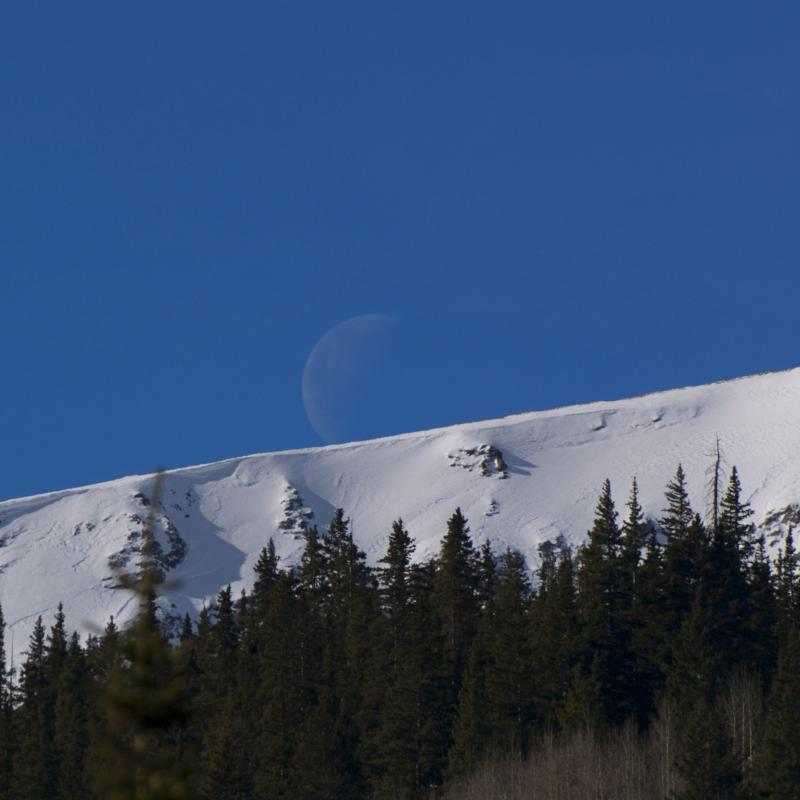 Moon Setting Over The Continental Divide
