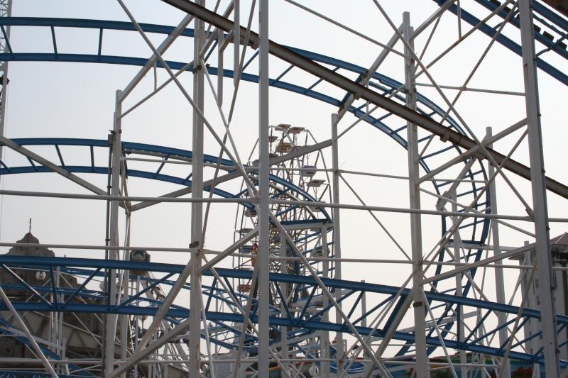 Roller Coaster  Ferris Wheel