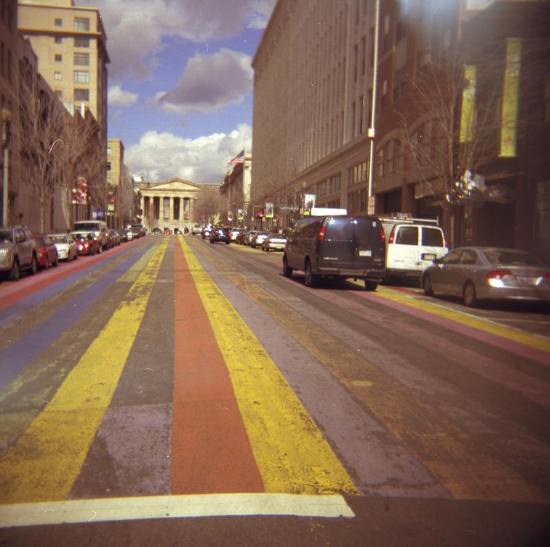 striped street