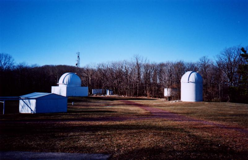 Telescopes Near Hawk Mountain